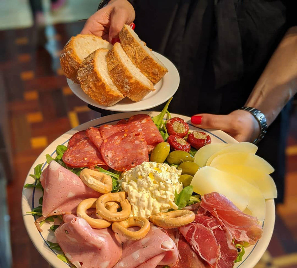 An antipasto plate available to order at i Pugliesi